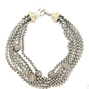 David Yurman multi strand two tone bracelet